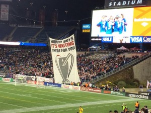 Tifo in front of the Fort at a New England Revolution Game
