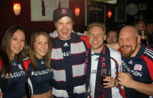 New England Revolution Fans at The Banshee