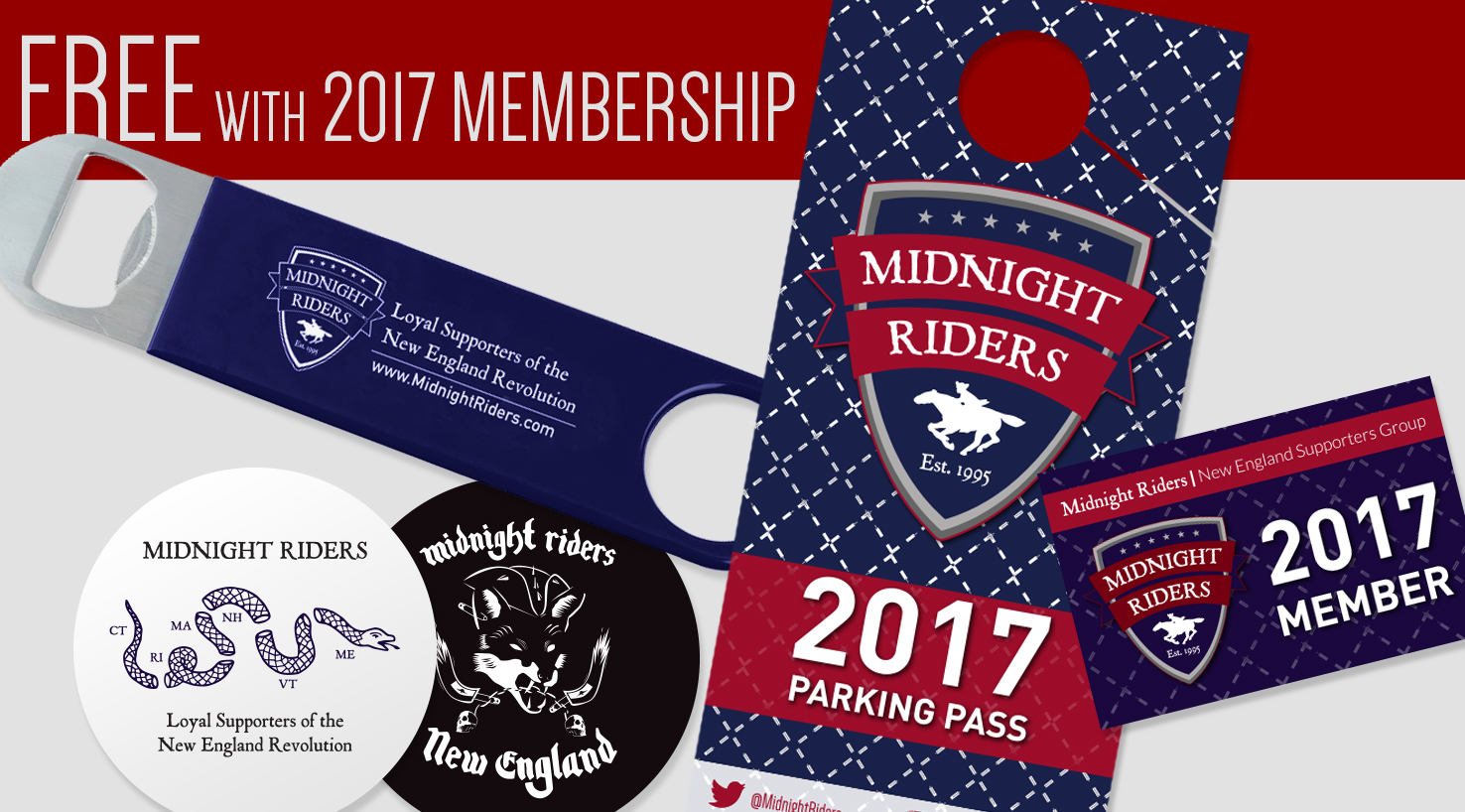 Free with 2017 Midnight Riders Membership